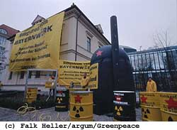 Greenpeace-Aktion in München, 30.03.2000